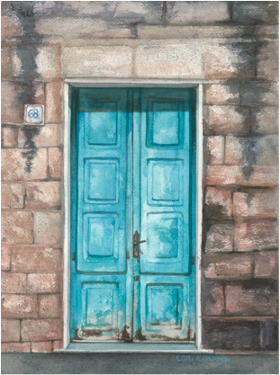 #68 the blue Door, Florence, Italy by Lori Rapuano