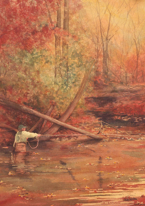Fishing on the Farmington River, East Granby, CT by Lori Rapuano