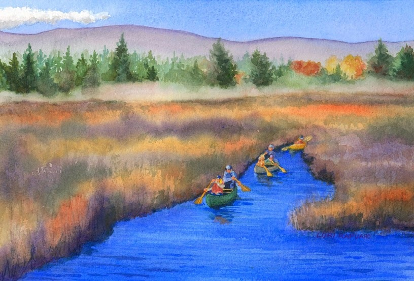 Morning Paddle by Lori Rapuano
